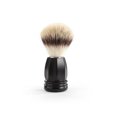Štětka na holení Sibel Techno Polygon - černá (0002312) + DÁREK ZDARMA