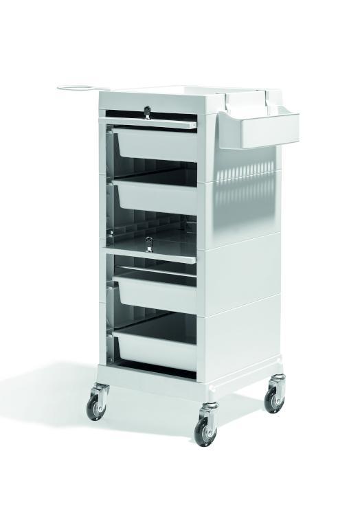 Kadeřnický vozík uzamykatelný Sibel Discrete/Lock - krémový (000737101) + DÁREK ZDARMA