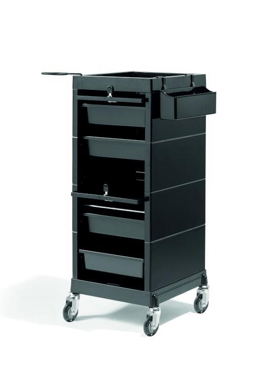 Kadeřnický vozík uzamykatelný Sibel Discrete/Lock - černý (000737102) + DÁREK ZDARMA
