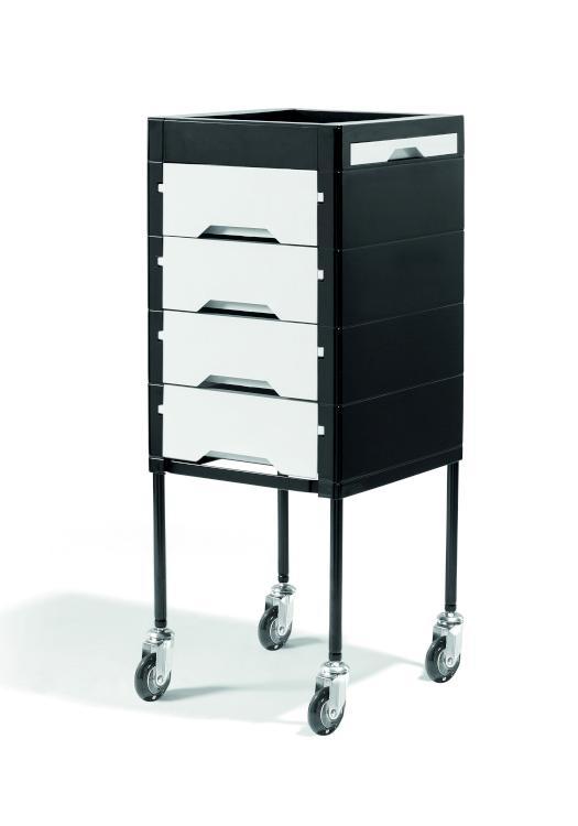 Kadeřnický vozík Sibel Secret - černý/krémový (000738101) + DÁREK ZDARMA