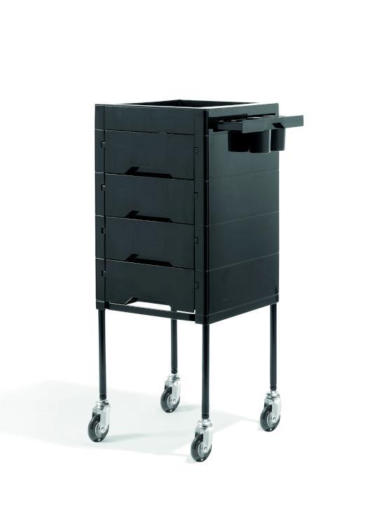 Kadeřnický vozík Sibel Secret - černý (000738102) + DÁREK ZDARMA