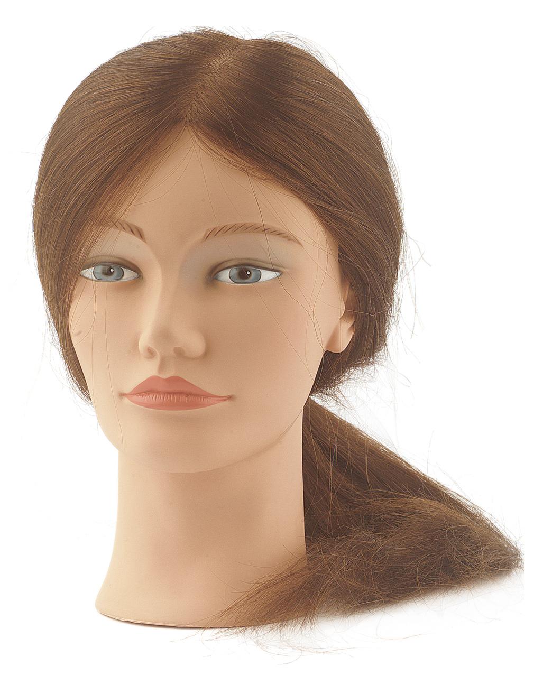 Cvičná hlava dámská s přírodními vlasy Sibel ANNA - blond 25-50 cm (0040801) + DÁREK ZDARMA