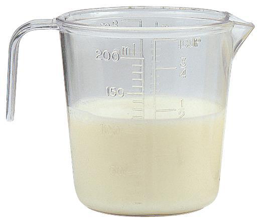 Kadeřnická odměrka s ryskami Sibel - 200 ml, plastová (0090021)