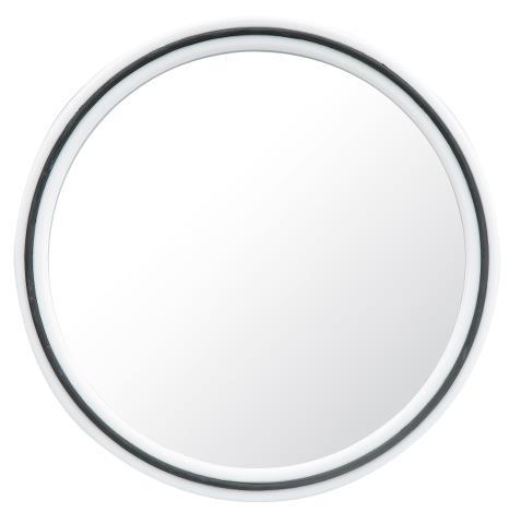 Kulaté zrcátko s rukojetí Sibel, bílo-černé (013073101) + DÁREK ZDARMA