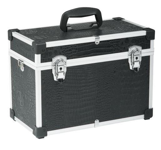 Profesionální kadeřnický a kosmetický kufr Sibel - černý (0150481) + DÁREK ZDARMA