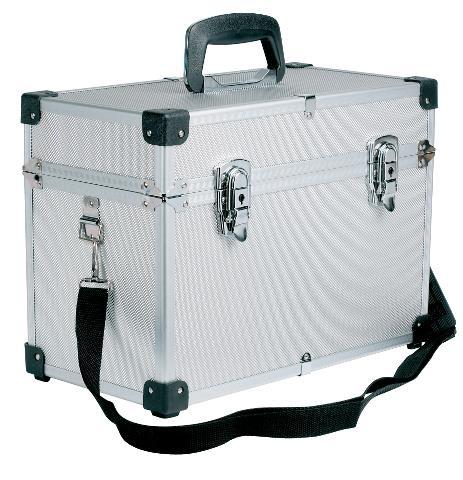 Profesionální kadeřnický a kosmetický kufr Sibel - stříbrný (0150491) + DÁREK ZDARMA