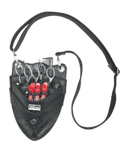 Kadeřnická kapsa na nůžky Sibel Boy 7 - černá (0151005) + DÁREK ZDARMA