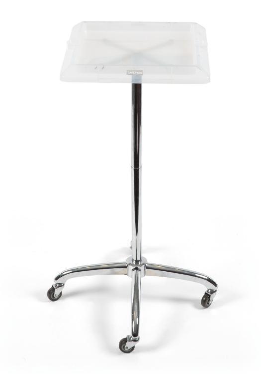 Kadeřnický odkládací stolek Sibel Escort - bílý, čtvercový (017081001) + DÁREK ZDARMA