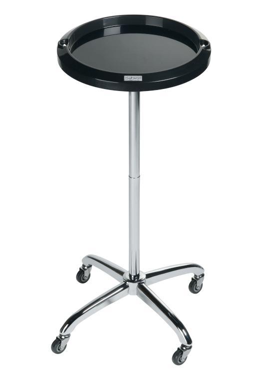 Kadeřnický odkládací stolek Sibel Escort - černý, kulatý (017082002) + DÁREK ZDARMA