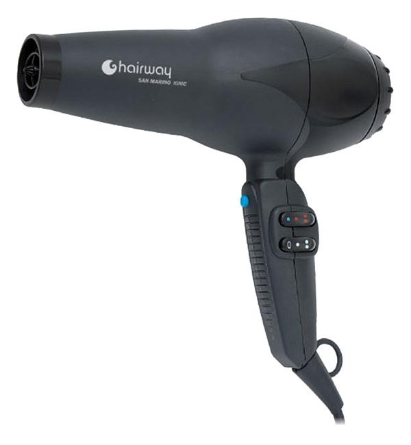 Profesionální fén na vlasy Hairway San Marino Ionic - 2200 W, černý (03047) + DÁREK ZDARMA