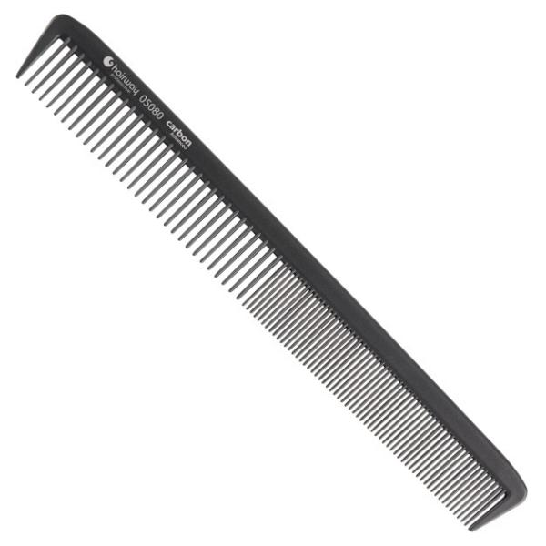 Hairway Karbonový hřeben na vlasy 05080 - 22 cm