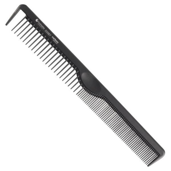 Hairway Karbonový hřeben na vlasy 05087 - 21 cm