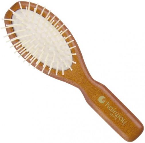 Dřevěný kartáč s polyamidovými štětinami Hairway 50 x 170 mm (08175)