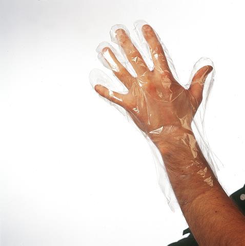 Jednorázové rukavice z folie Sibel - vel.M, 50 ks (0931001)