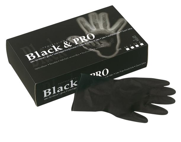 Latexové rukavice pro kadeřníky Sibel Black Pro 20 ks - XL (094000157)