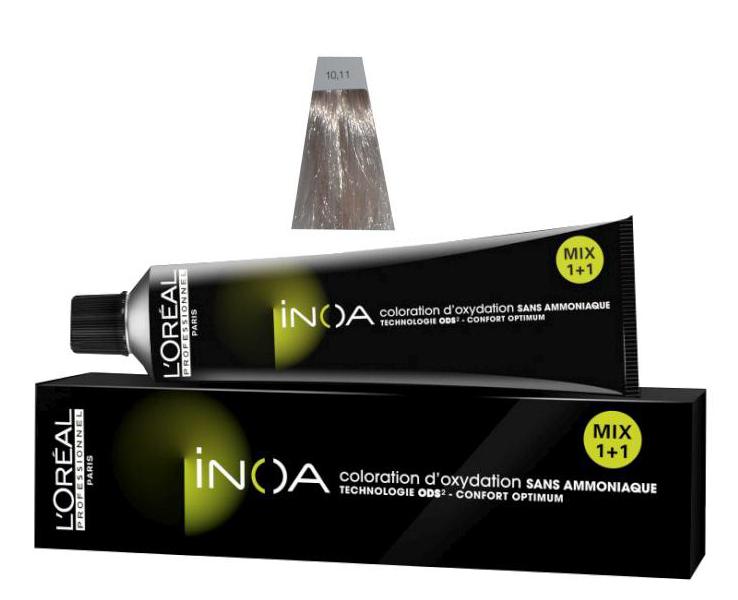 Loréal Inoa 2 barva na vlasy 60 g - odstín 10.11 popelavá blond