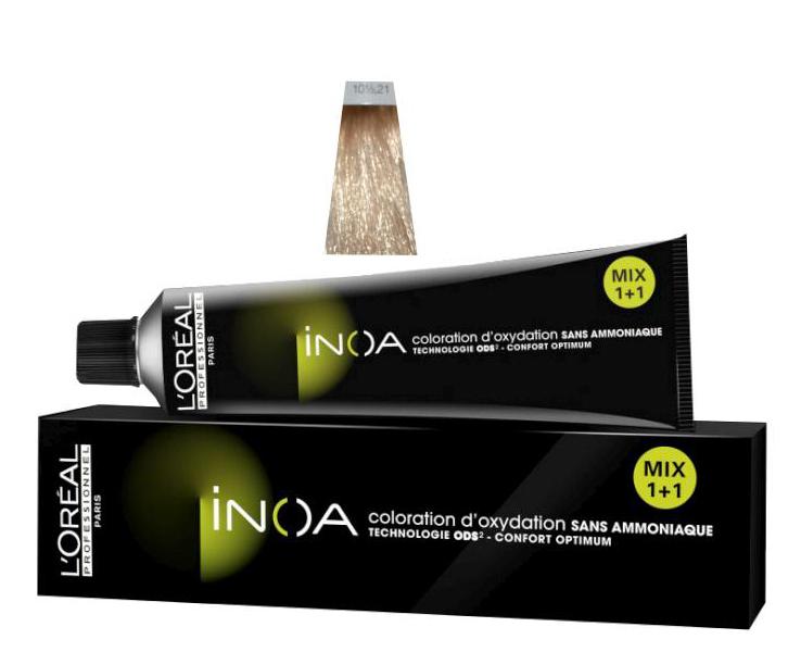 Loréal Inoa 2 barva na vlasy 60 g-odstín 10 1/2,21 blond popelavá