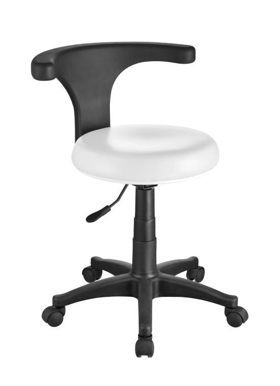 Pedikérská židle s opěrkou Weelko ERGO - bílá (1028) + DÁREK ZDARMA