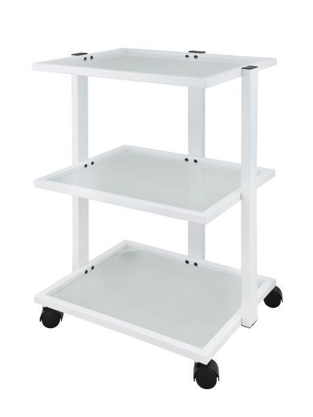 Kosmetický stolek na kolečkách Weelko FACILE - 3 police, bílý (1040) + DÁREK ZDARMA
