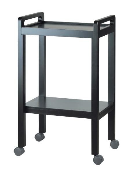 Kosmetický stolek BASIC, 2 police, tmavě hnědý - odřená madla (1050A) - Weelko + DÁREK ZDARMA