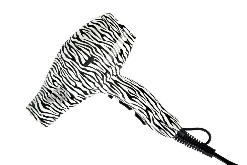 Ionizační fén na vlasy Fox Art, limitovaná edice Zebra (1303054, 2741073) + DÁREK ZDARMA