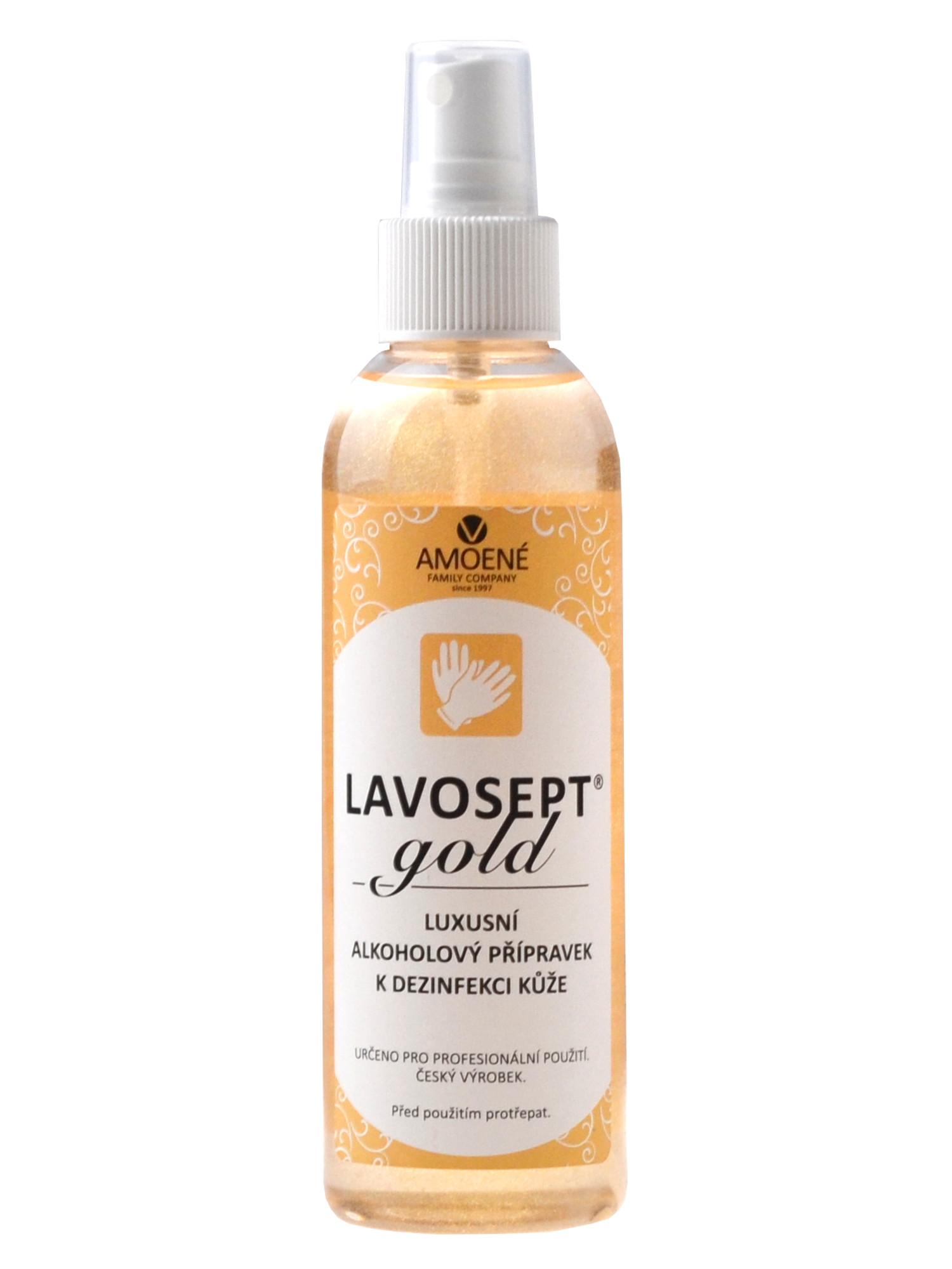 Univerzální dezinfekce ve spreji Amoené Lavosept Gold se třpytkami - 200 ml (0134N2M200) + DÁREK ZDA