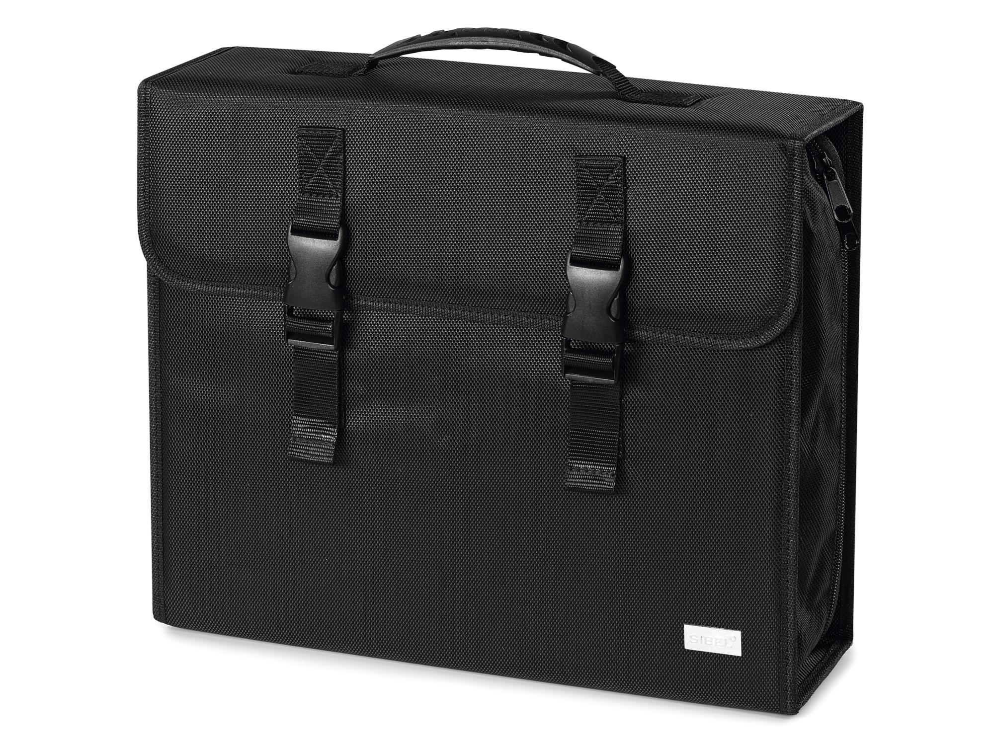 Kadeřnická taška Sibel Y Toolcase se zrcadlem - černá (0130750) + DÁREK ZDARMA