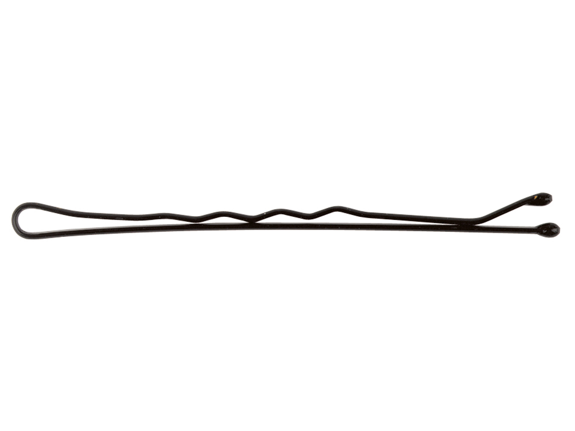Vlnitá sponka Sibel Wavy - 5 cm, černá - 24ks (9400050-02)