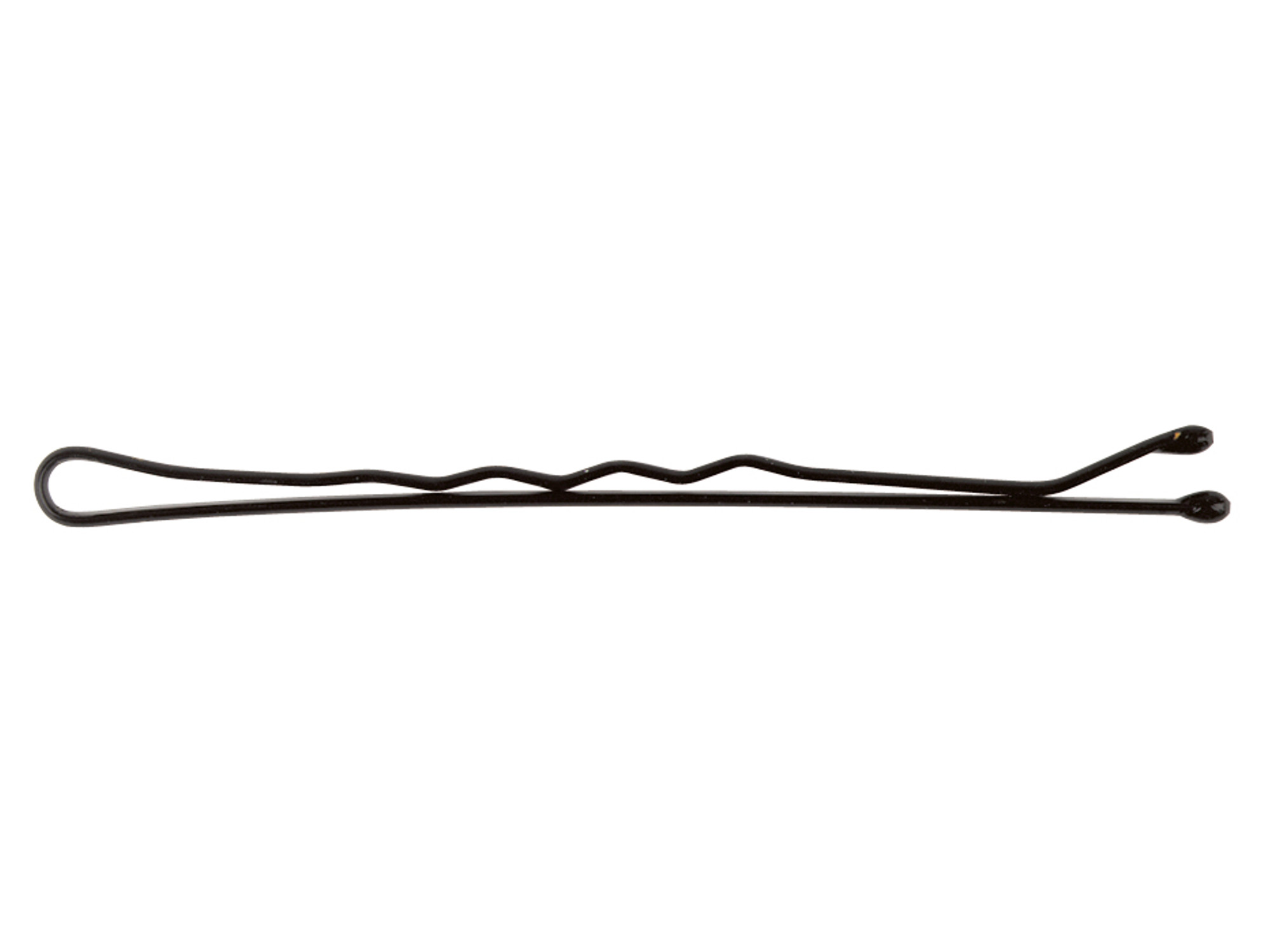 Vlnitá sponka Sibel Wavy - 7 cm, černá - 500 g (9400071-02) + DÁREK ZDARMA