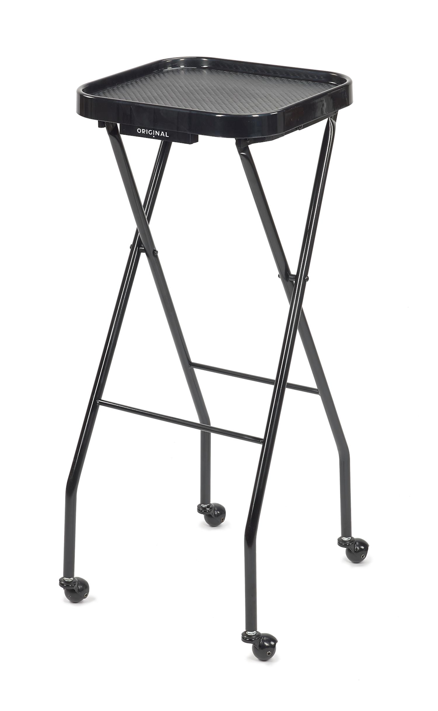 Kadeřnický odkládací stolek Original Best Buy - černý, čtvercový (6000759) + DÁREK ZDARMA