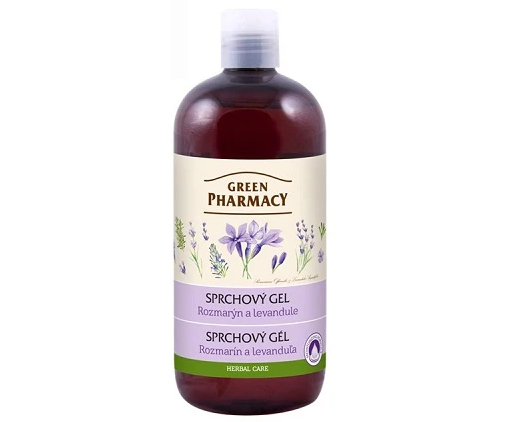 Sprchový gel Green Pharmacy - rozmarýn a levandule - 500 ml