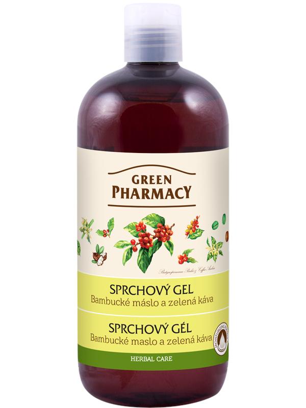 Sprchový gel Green Pharmacy - bambucké máslo a zelená káva - 500 ml