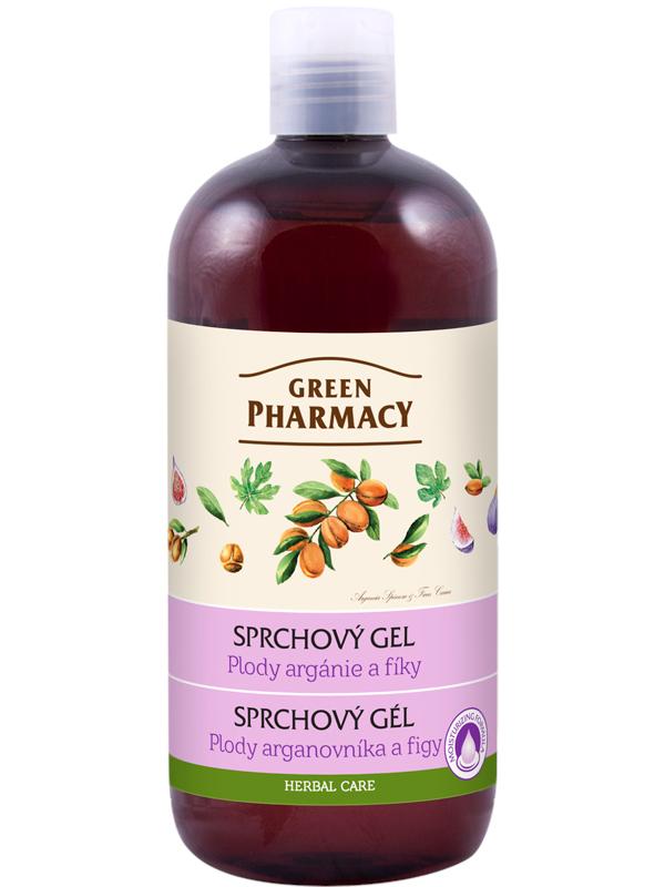 Sprchový gel Green Pharmacy - plody argánie a fíky - 500 ml