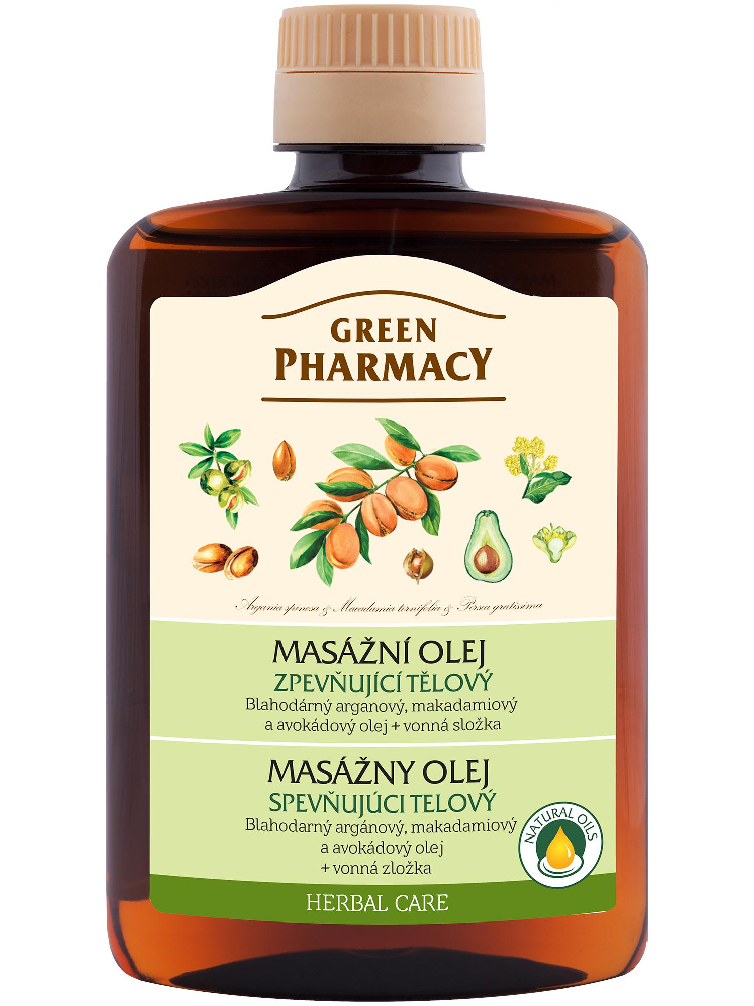 Zpevňující tělový olej Green Pharmacy - 200 ml