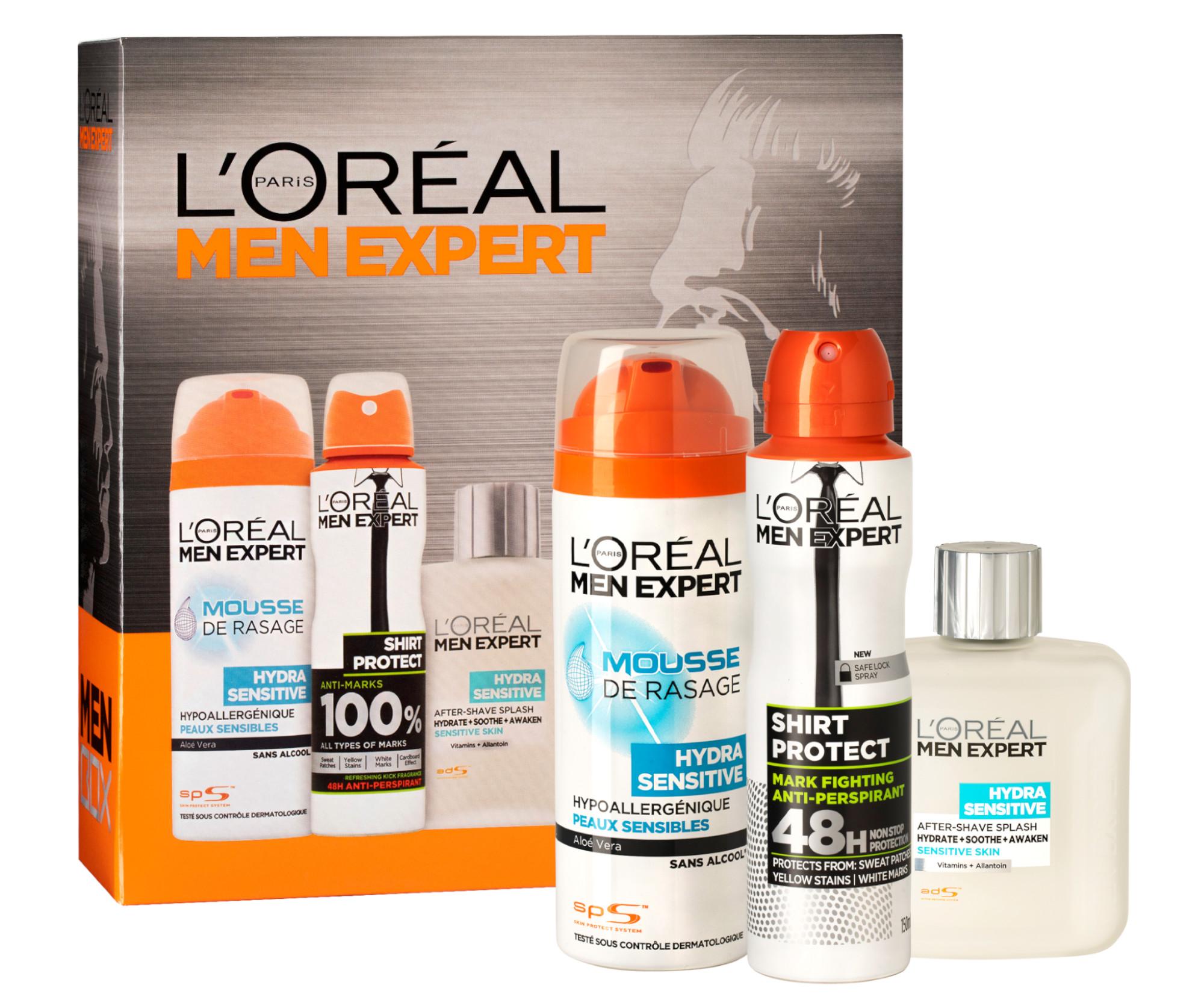 Sada pro muže Loréal Paris - holící pěna 200 ml + antiperspirant 150 ml + voda po holení 100 ml - L'Oréal Paris + DÁREK ZDARMA