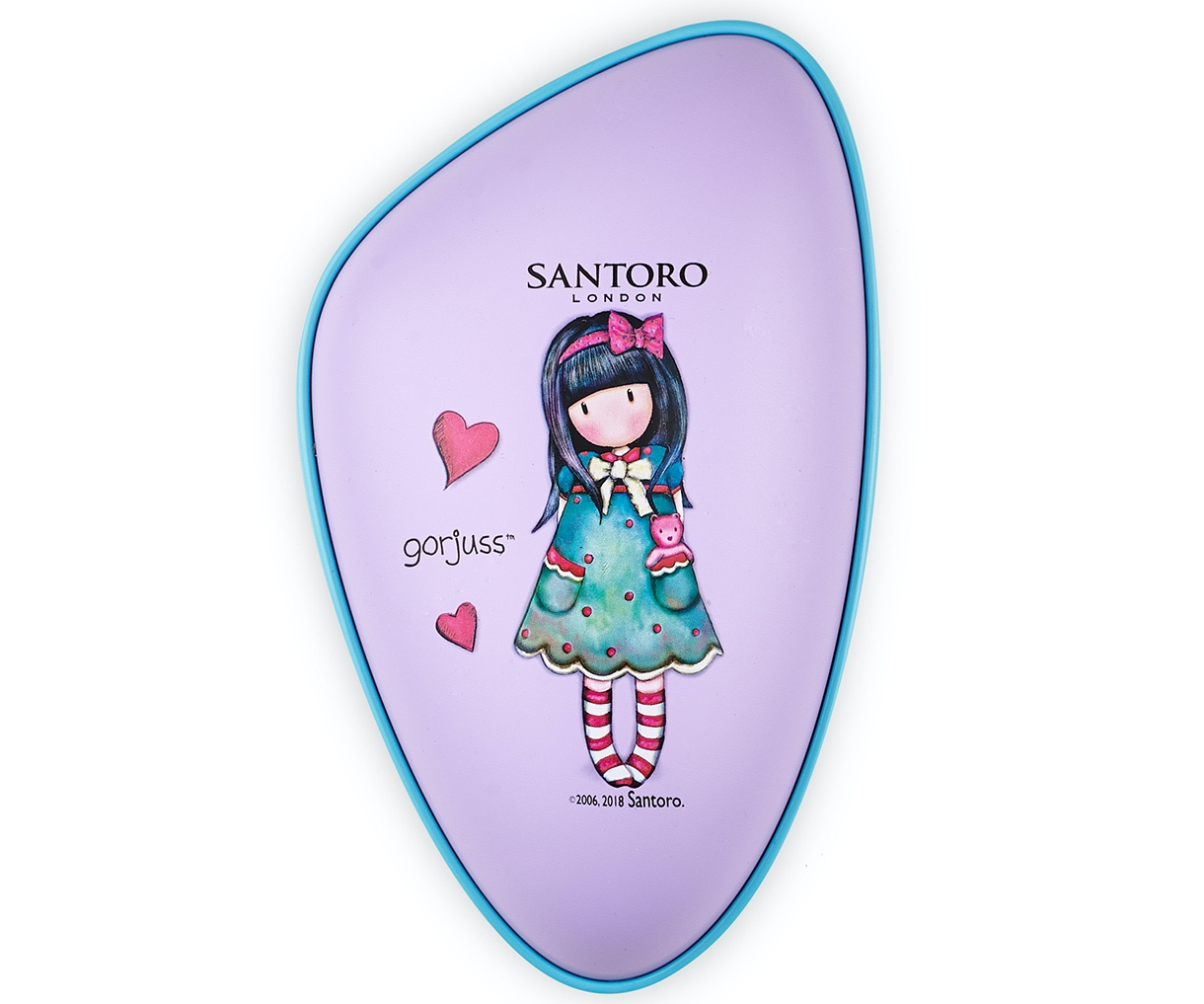 Rozčesávací kartáč na vlasy Dessata Santoro - fialový (31195) + DÁREK ZDARMA