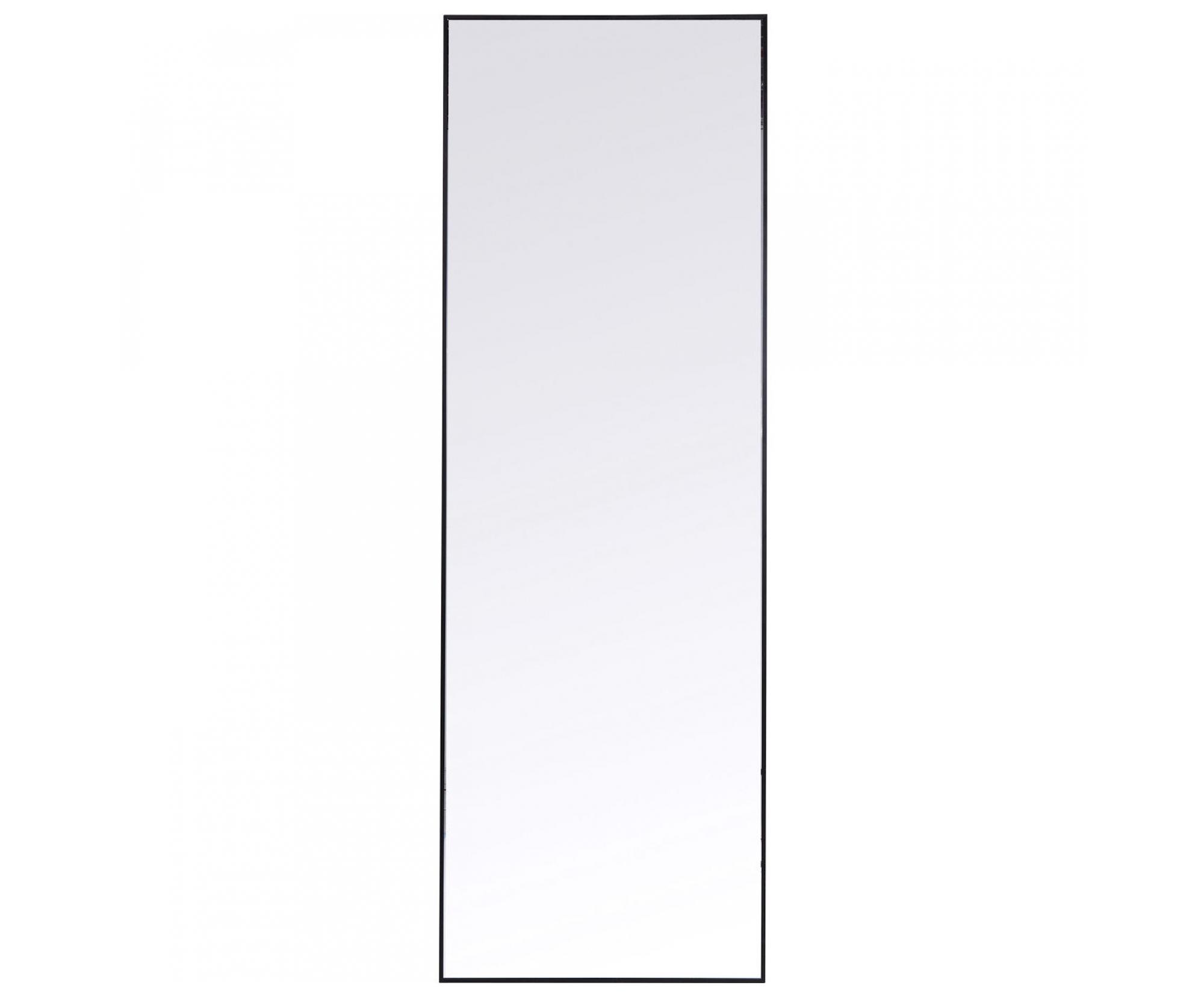 Kadeřnické zrcadlo Kare Bella - černé, 130 x 30 cm (83452) + DÁREK ZDARMA