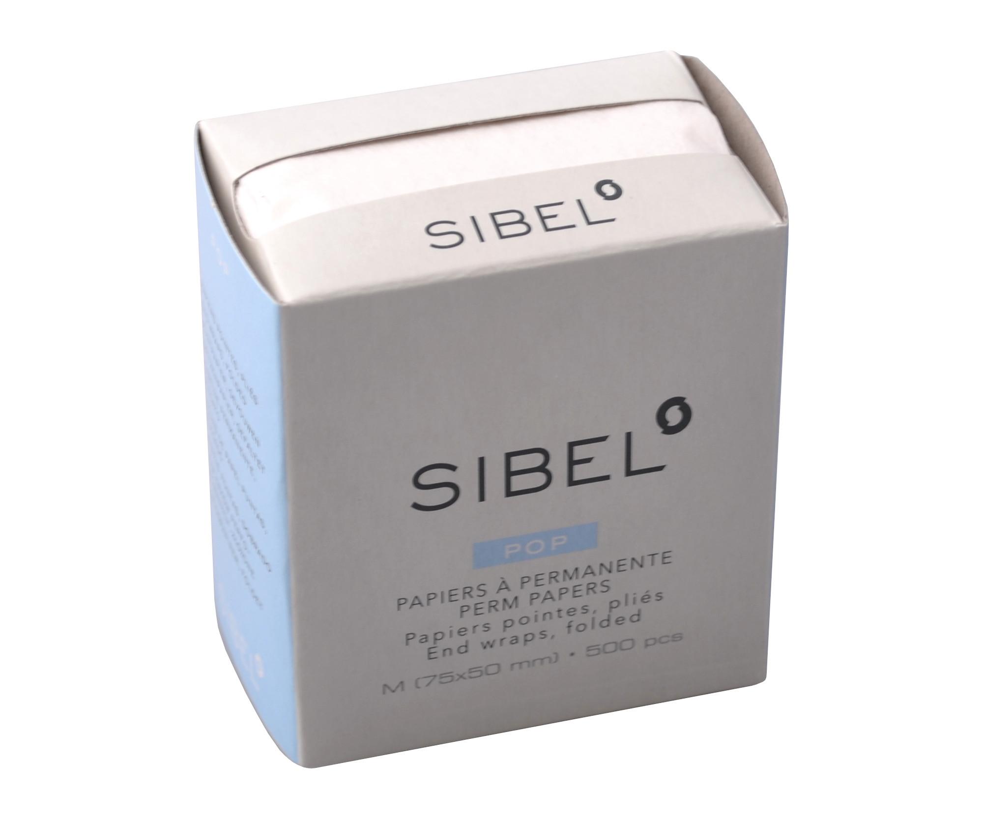 Papírky na trvalou ondulaci Sibel Pop, 75 x 50 mm - 500 ks (4480800)