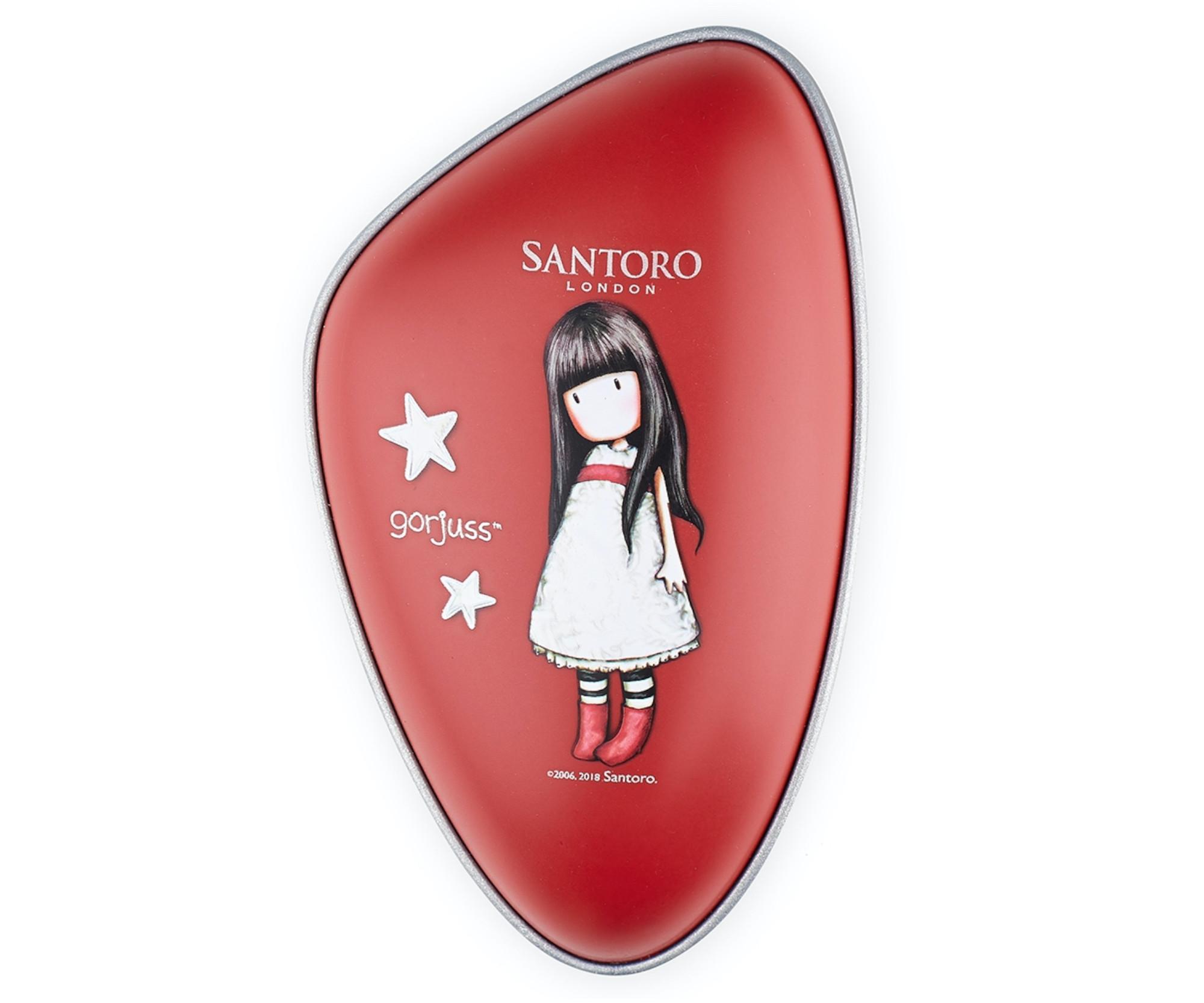 Rozčesávací kartáč na vlasy Dessata Santoro - červený (31200) + DÁREK ZDARMA