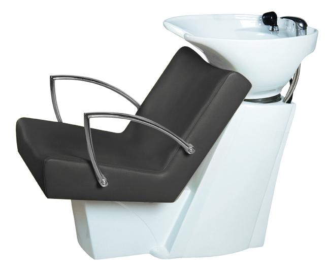 Kadeřnický mycí box SilverFox 43114 - černý/bílá mísa + DÁREK ZDARMA