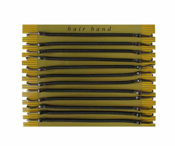 Gumička do vlasů s háčkem Duko 8013 - černá, 12 ks (8013-black) + DÁREK ZDARMA