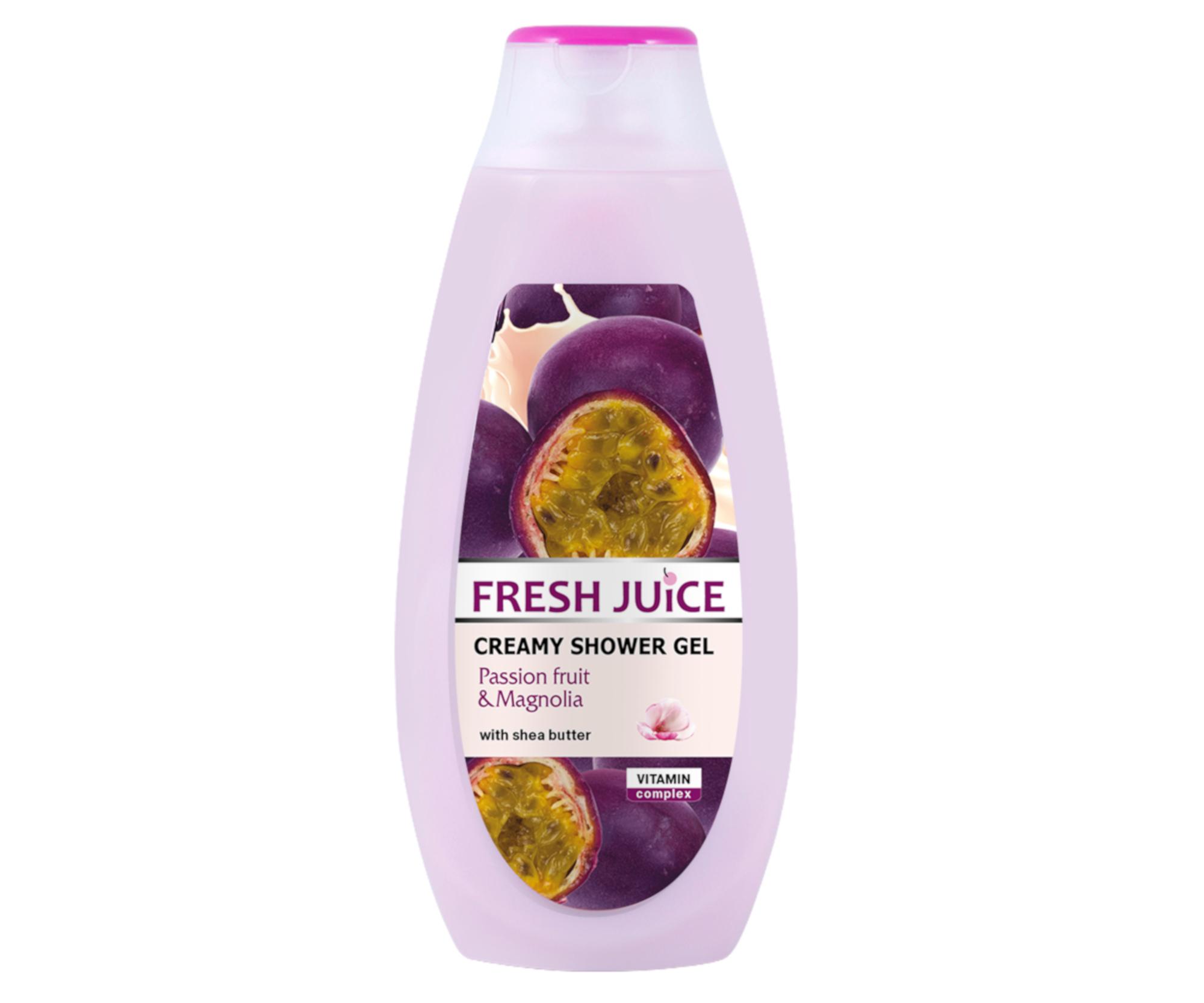 Krémový sprchový gel Fresh Juice - Mučenka a Magnolie 400 ml
