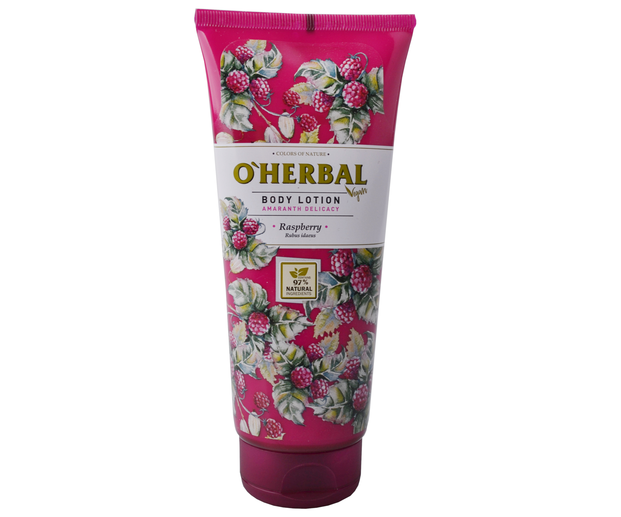 Tělové mléko O'Herbal Amarath Delicacy - Malina 200 ml - O`Herbal + DÁREK ZDARMA