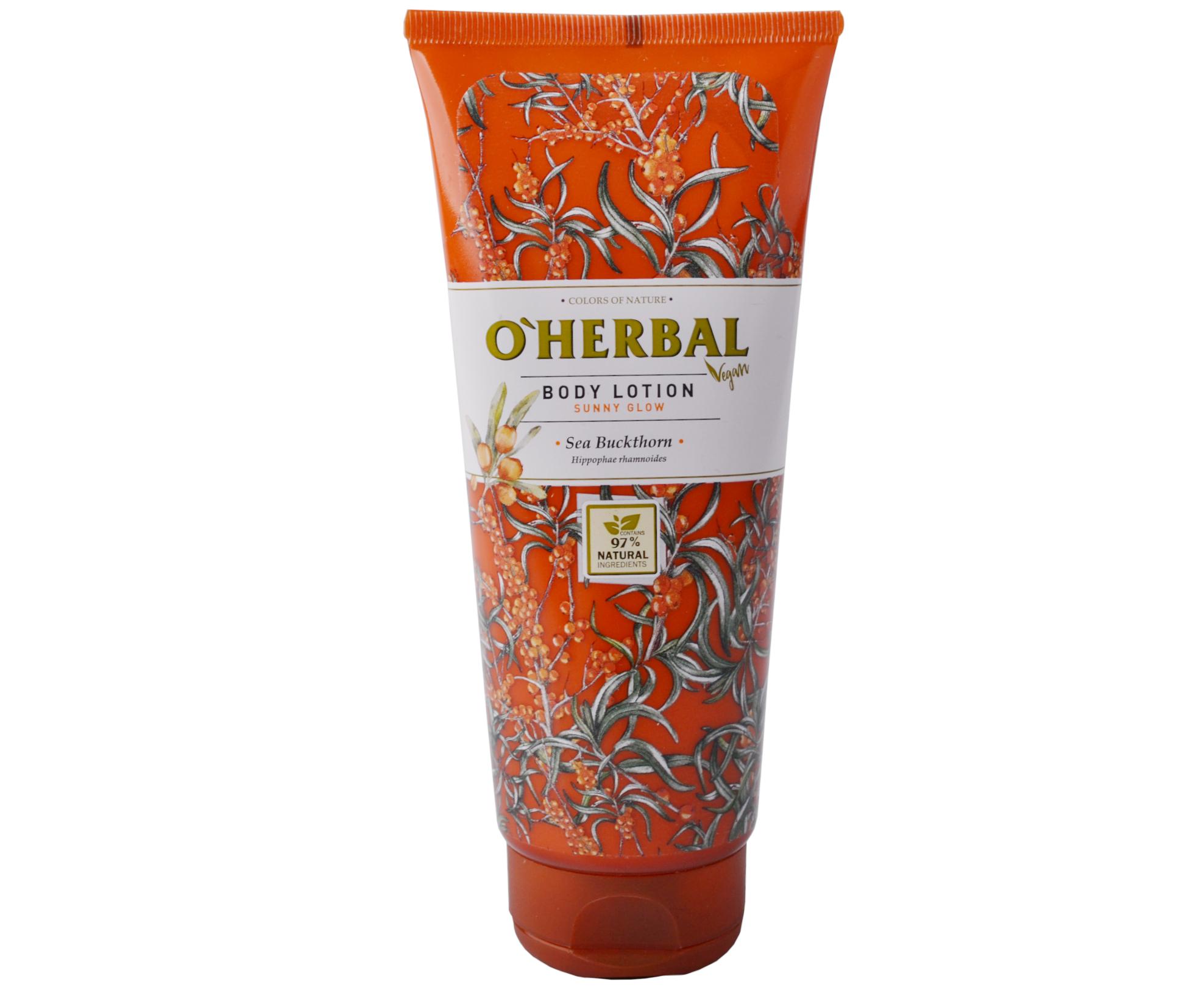 Tělové mléko O'Herbal Sunny glow - Rakytník 200 ml - O`Herbal + DÁREK ZDARMA