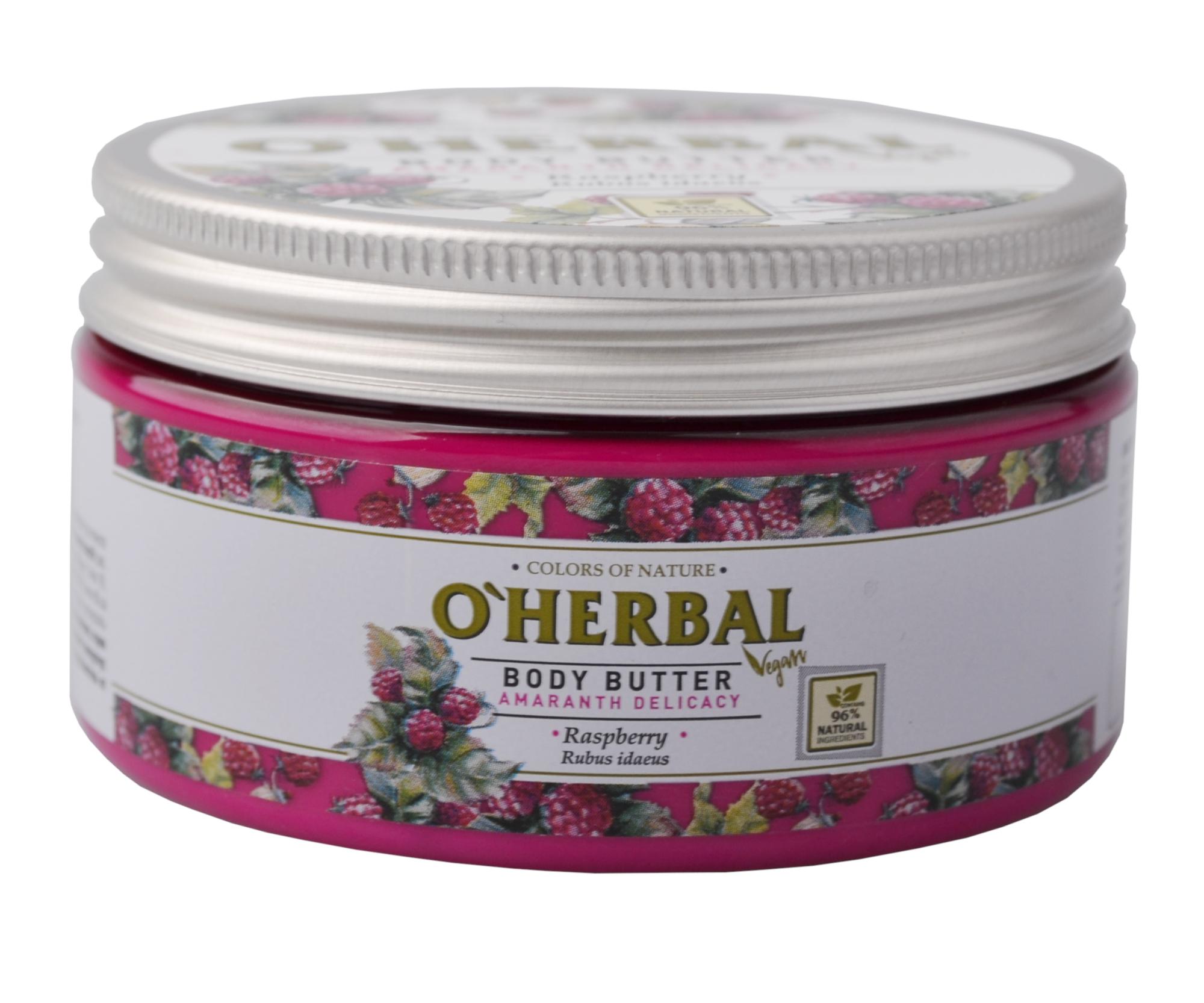 Tělové máslo O'Herbal Amaranth Delicacy - Malina 200 ml - O`Herbal + DÁREK ZDARMA