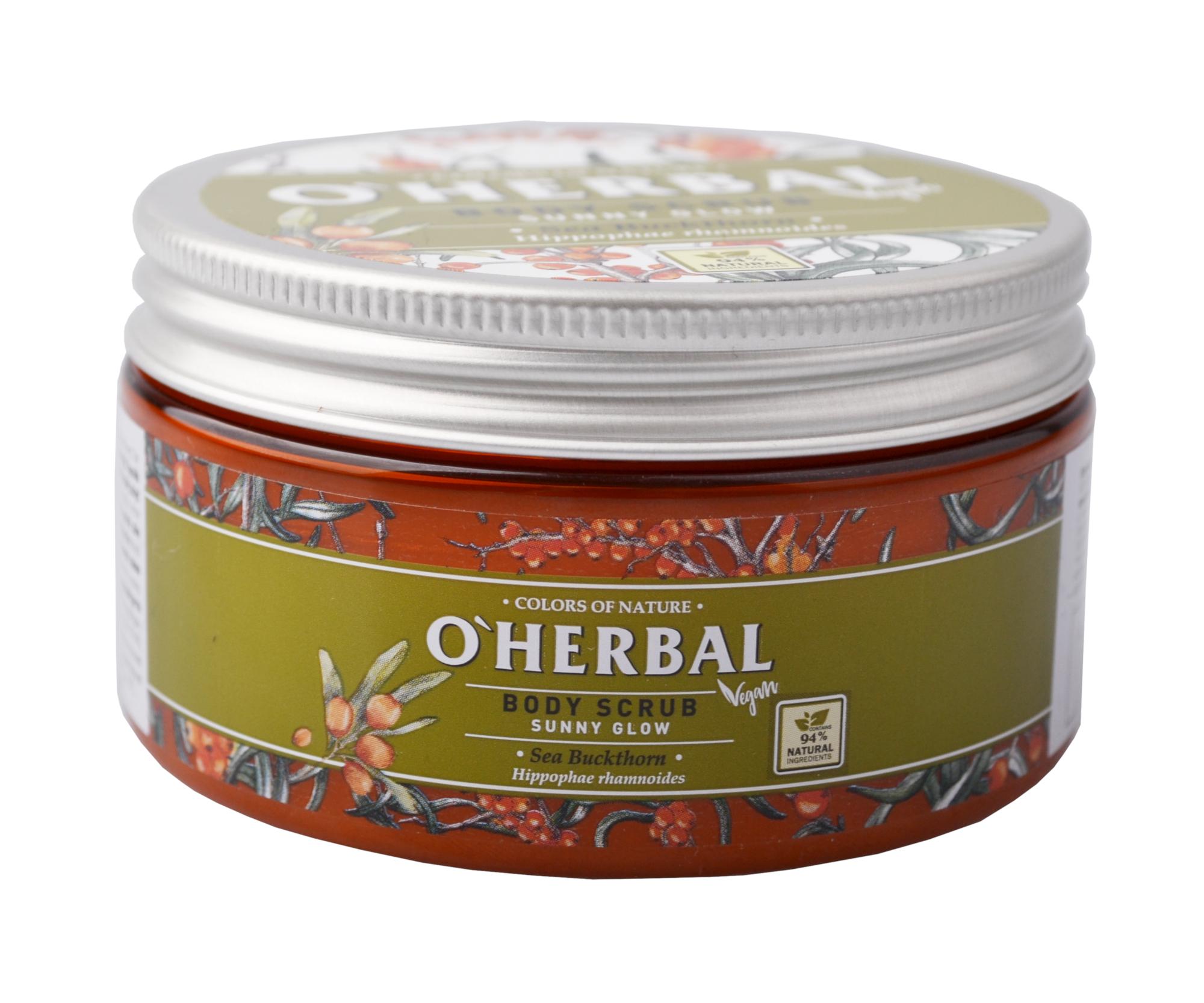 Tělový peeling O'Herbal Sunny Glow - Rakytník 200 ml - O`Herbal + DÁREK ZDARMA