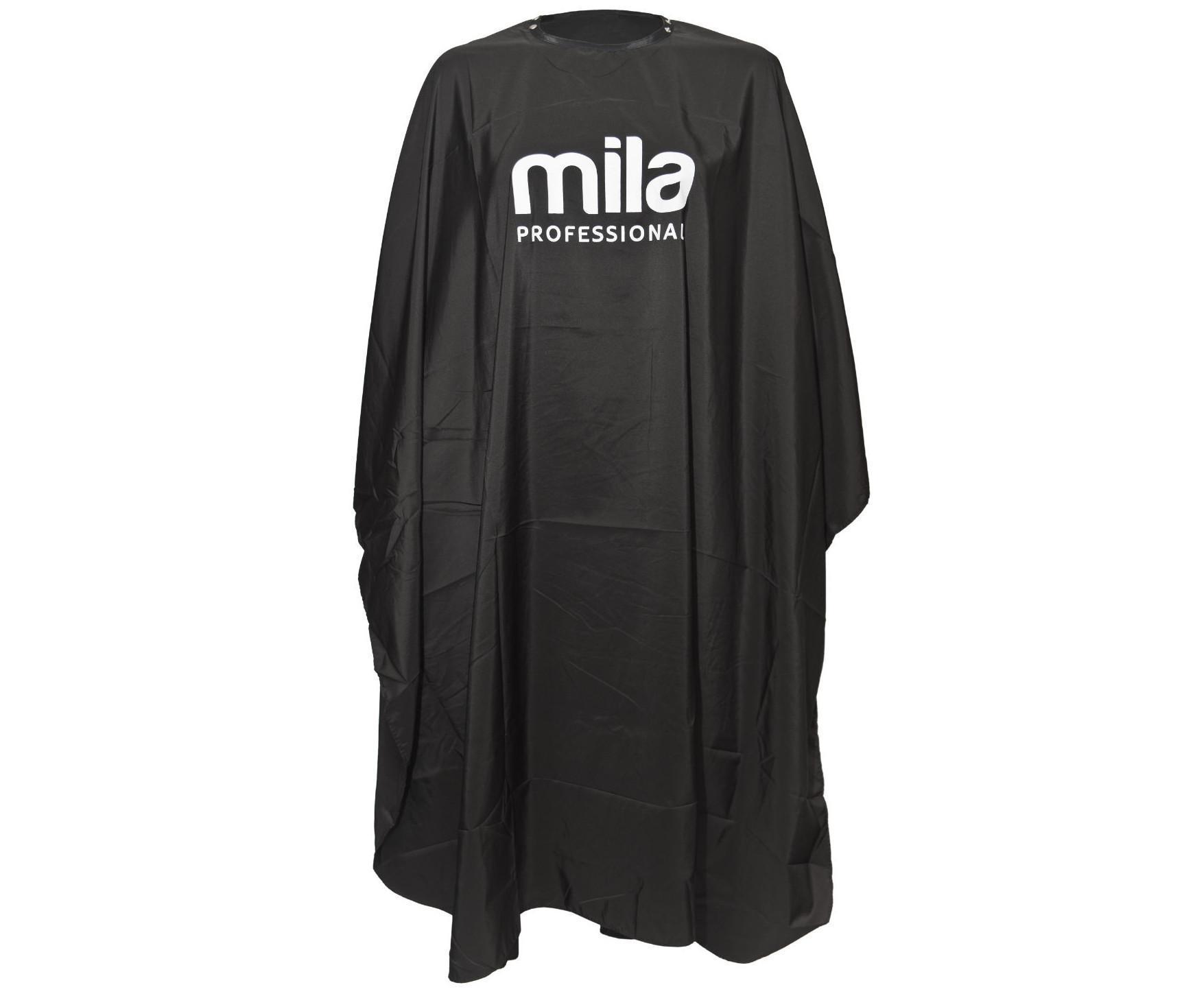 Kadeřnická pláštěnka na stříhání a barvení Mila - černá (0109920) + DÁREK ZDARMA