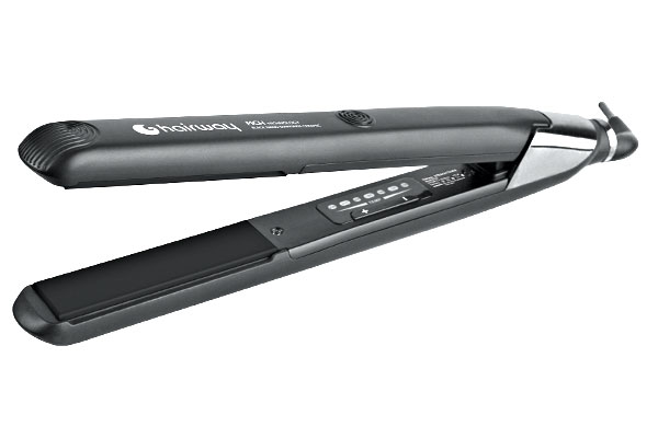 Hairway Digitální žehlička na vlasy 25 x 90 mm - černá (04104) + DÁREK ZDARMA
