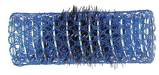 Spirálové natáčky na vlasy Sibel modré 12 ks - 26 mm (2210269)