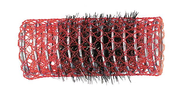 Spirálové natáčky na vlasy Sibel červené 12 ks - 30 mm (2210309)